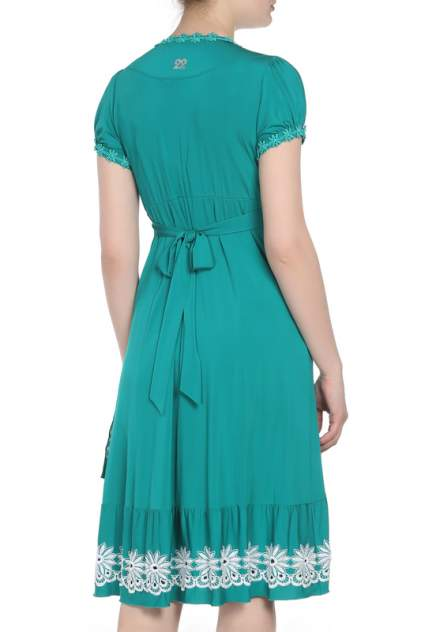 Платье женское Maria Grazia Severi 6414R006 зеленое 44 IT