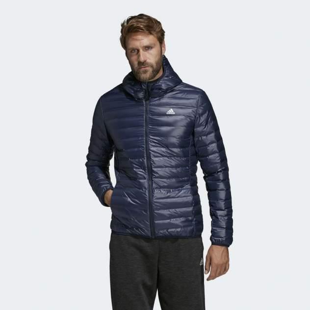 Куртка Adidas Varilite Hooded Down DX0785, синий