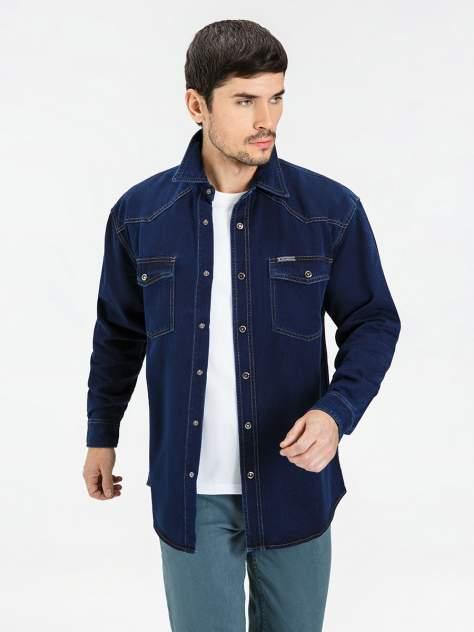 Джинсовая рубашка мужская Velocity PRIME 16-V26 синяя XXL