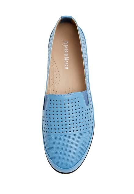Лоферы женские Alessio Nesca 710018245 голубые 38 RU