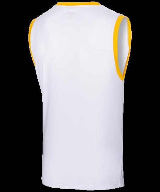 Майка Jogel JBT-1020-014, белый/желтый, S INT
