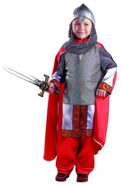 Карнавальный костюм Батик Богатырь, цв. серый; красный р.122