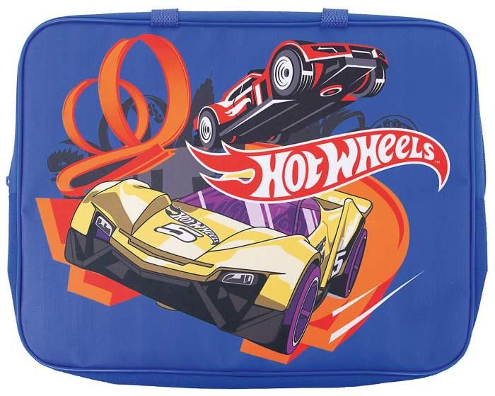 Сумка детская Centrum Hot Wheels с ручкой А4 текстильная, цв. синий