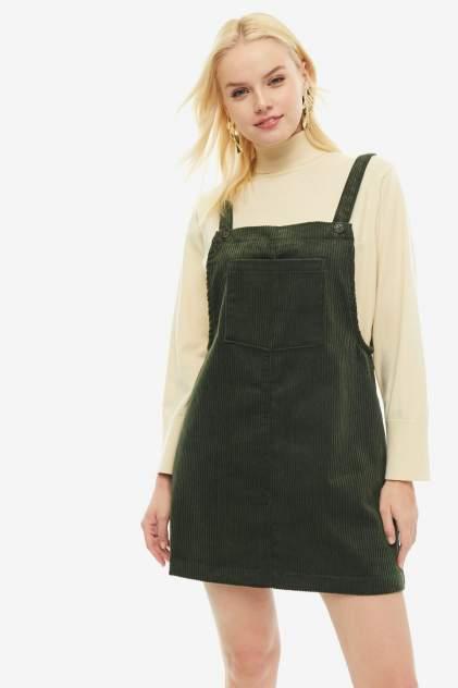Платье женское ICHI 110236 13390 хаки 40 EU