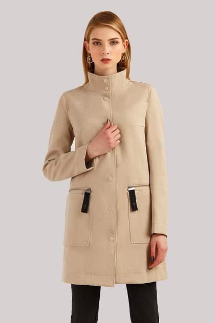 Женское пальто Finn Flare B19-32002, бежевый