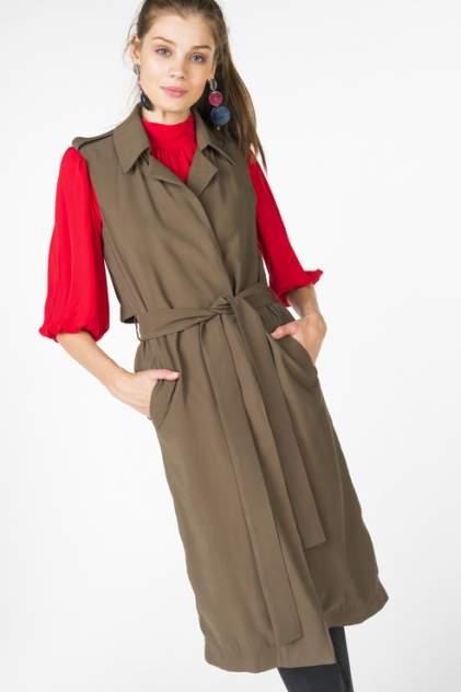 Жилет женский T-Skirt SS17-14-0411-FS зеленый 42 RU