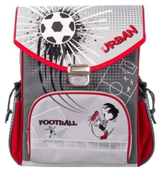 Рюкзак детский Gulliver Школьный футбол серый M7