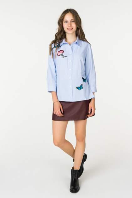 Рубашка женская Stella Di Mare Dress 705-18 голубая 44 RU