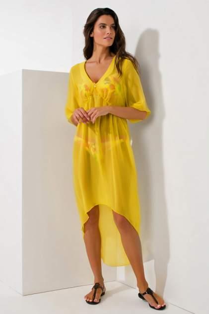 Пляжная туника женская Laete 60262-1 желтая 2XL