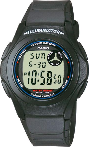 Наручные часы электронные мужские Casio Illuminator Collection F-200W-1A