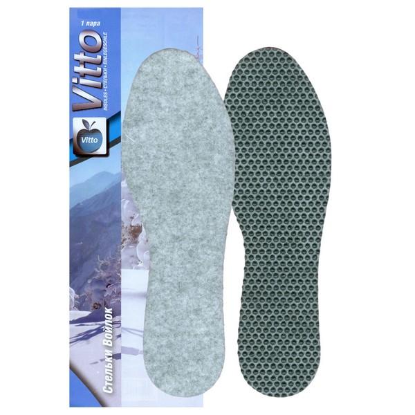 Стельки зимние из натурального войлока Vitto 10108 43-44