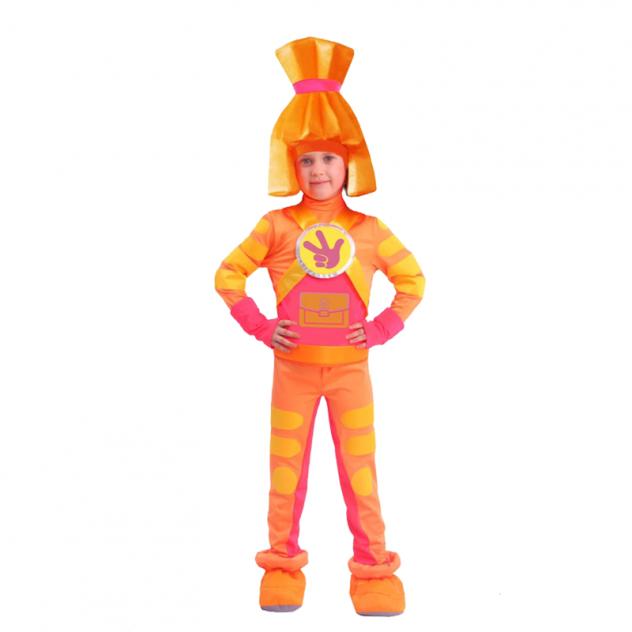Карнавальный костюм Батик Фиксики, цв. оранжевый р.116