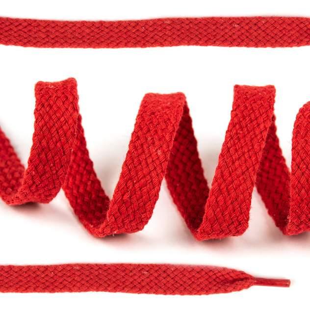Шнурки для обуви плоские х/б 12мм х 150см красные 10 комплектов