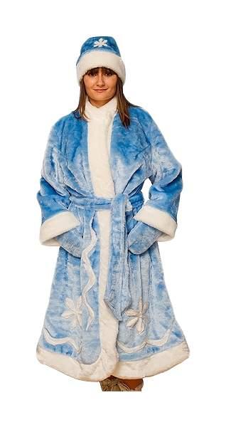 Карнавальный костюм Бока Снегурочка, цв. голубой р.180