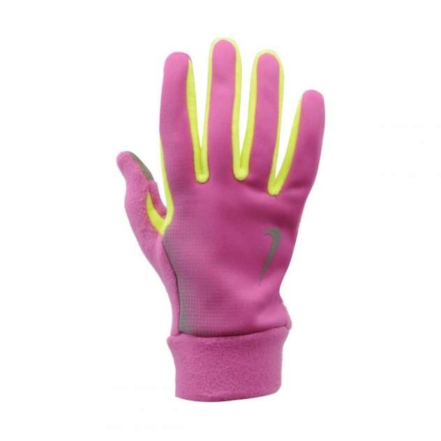 Перчатки Nike Women's Tech Thermal Running Gloves, розовые/салатовые, XS