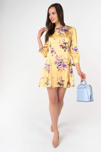 Платье женское Ennergiia 18101090002 желтое XS