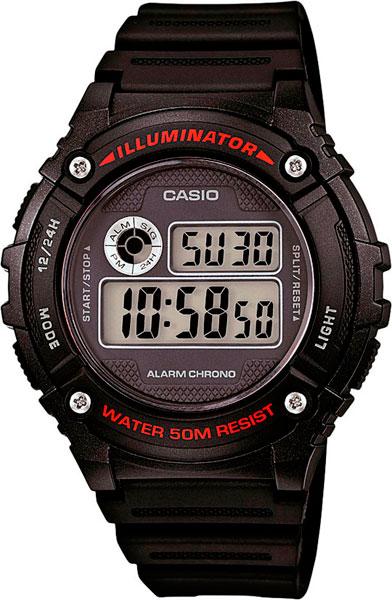 Наручные часы электронные мужские Casio Illuminator Collection W-216H-1A