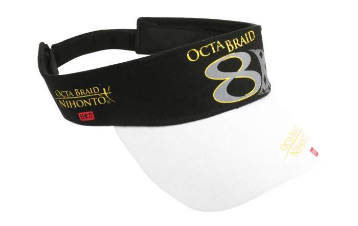 Бейсболка Mikado Octa Braid 8, черная/белая, One Size