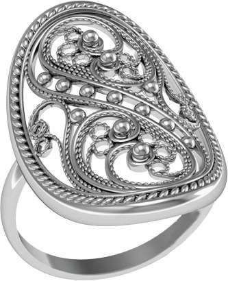 Кольцо женское ПРИВОЛЖСКИЙ ЮВЕЛИР 243467 р.20