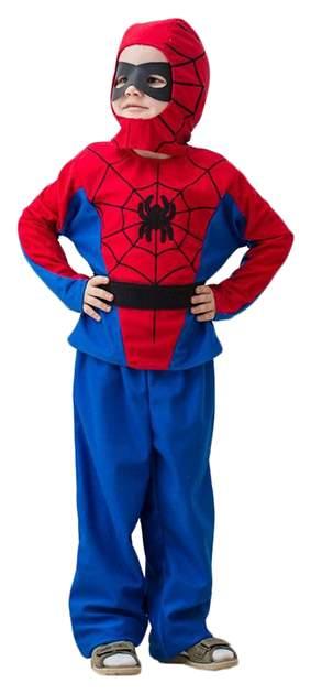 Карнавальный костюм Бока Человек-Паук, цв. синий; красный р.122