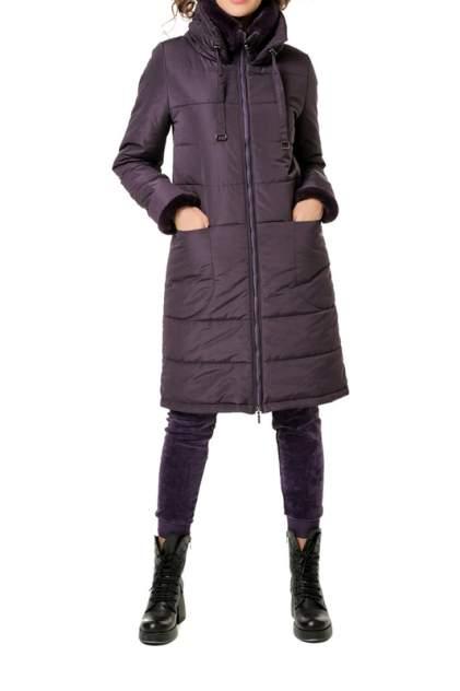 Пуховик-пальто женский DizzyWay 19427 фиолетовый 62 RU