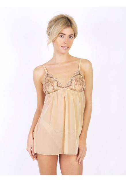 Ночная сорочка женская LUCE DEL SOLE 0271LS бежевая 46 RU