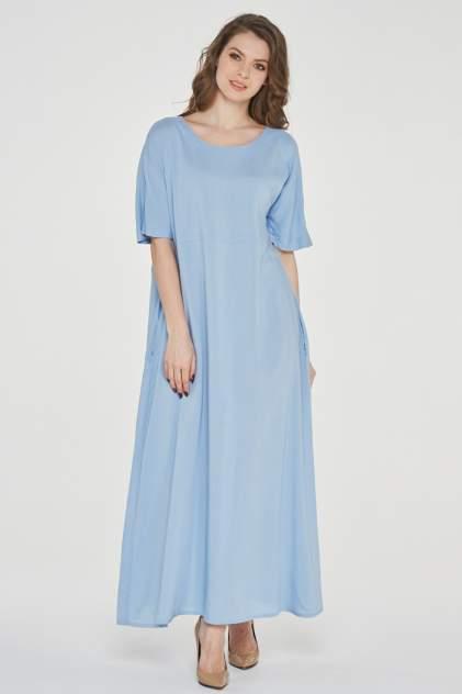 Платье женское VAY 191-3485 голубое 50 RU