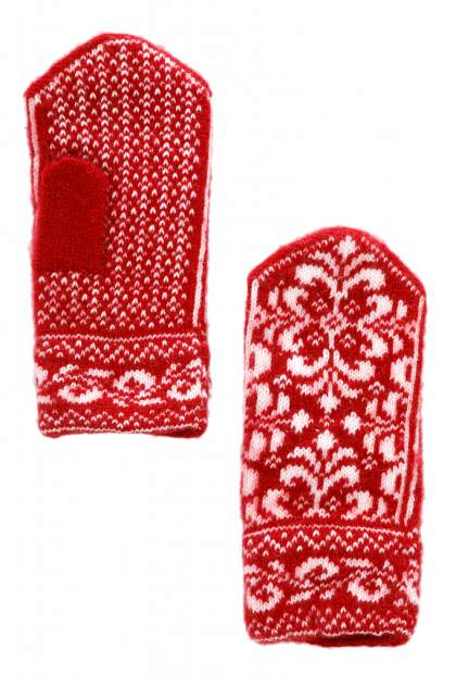 Варежки женские Finn-Flare W19-11302 красные 21
