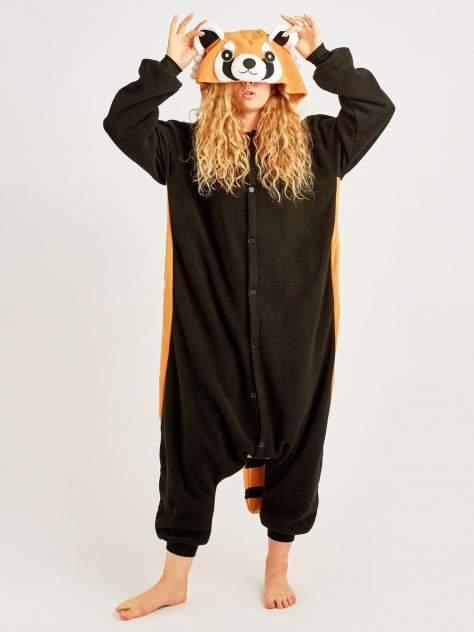 Кигуруми BearWear Енот, черный, оранжевый