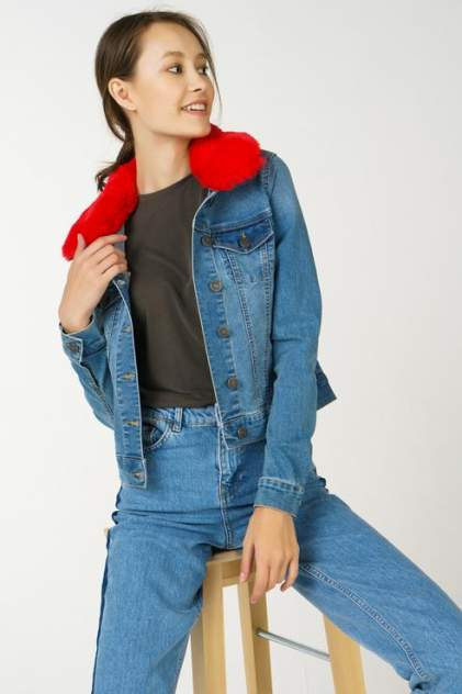 Джинсовая куртка женская Noisy may 27004184 голубая L