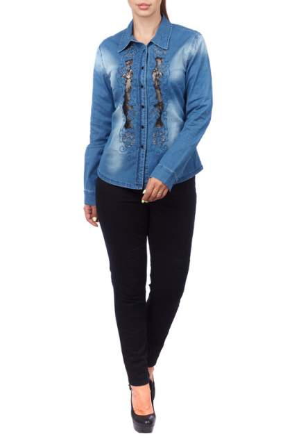 Женская джинсовая рубашка LAFEI-NIER T462196-1F, синий