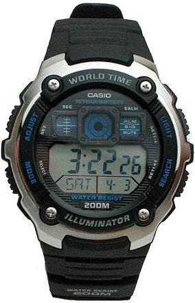 Наручные часы электронные мужские Casio Illuminator Collection AE-2000W-1A