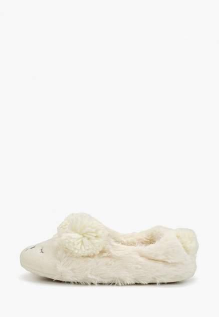 Домашние тапочки женские Halluci Мишки с задником белые 38-39 RU