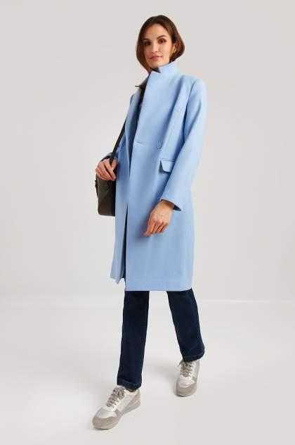 Пальто женское Finn Flare B19-11007 голубое M