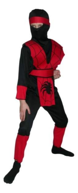 Карнавальный костюм Snowmen Ниндзя, цв. красный; черный р.140