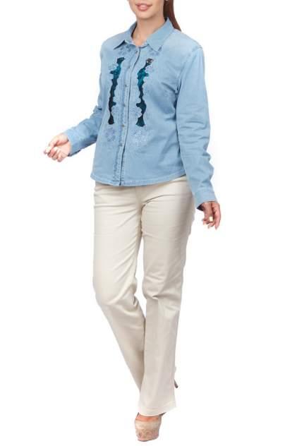 Женская джинсовая рубашка LAFEI-NIER T462197-1F, голубой