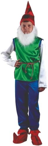 Карнавальный костюм Батик Гном, цв. зеленый; синий р.110
