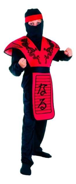 Карнавальный костюм Snowmen Ниндзя, цв. красный; черный р.122