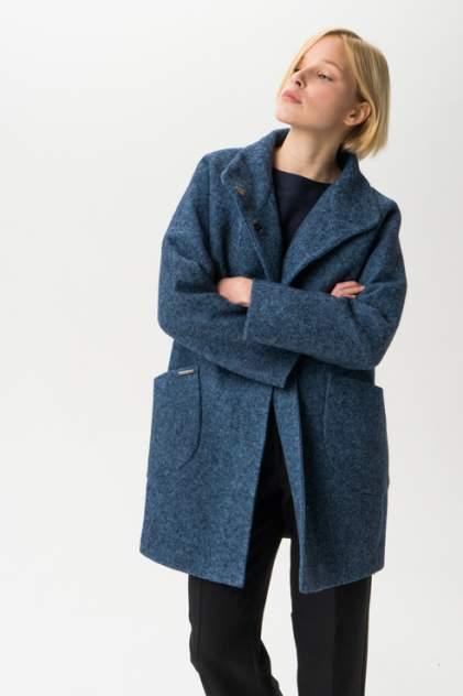 Пальто женское ElectraStyle С3У-7007/1-138 голубое 40 RU