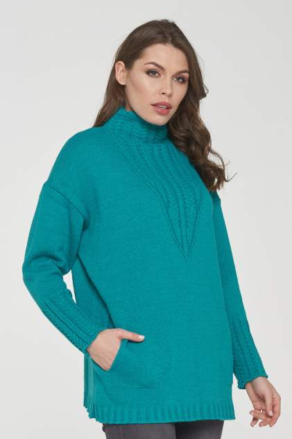 Джемпер женский VAY 182-4671 зеленый 50 RU
