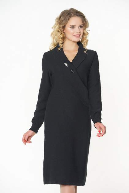 Платье женское VAY 182-2307 черное 52 RU