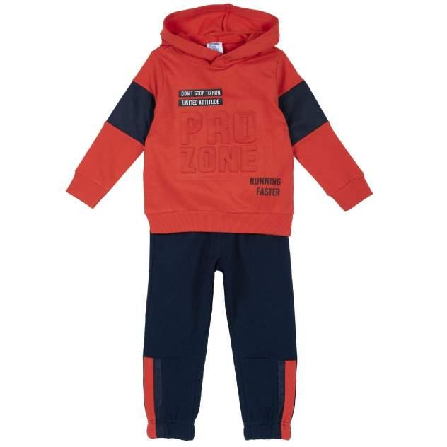 Спортивный костюм chicco   pro zone, для мальчиков, р.74, цвет оранжевый