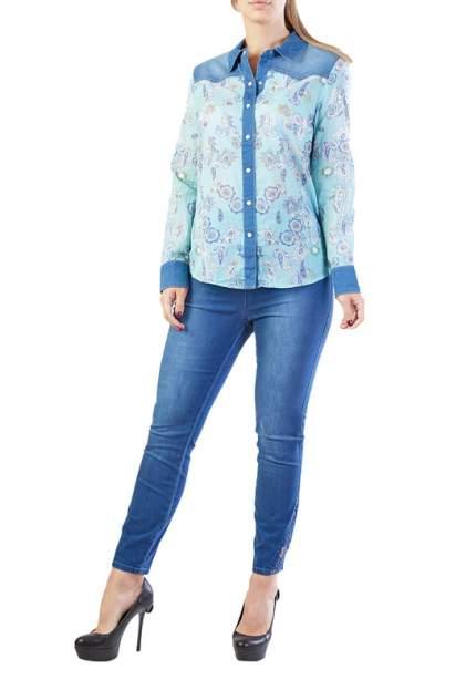 Рубашка женская LAFEI-NIER H722922-JS голубая 2XL
