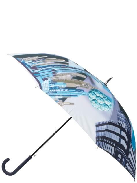 Зонт-трость женский автоматический Eleganzza 01-00029241 голубой/разноцветный