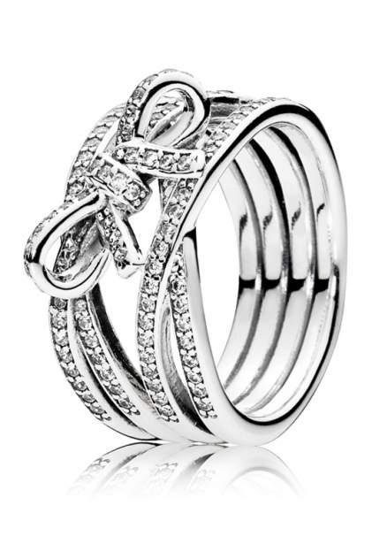 Кольцо женское из серебра Pandora 190995CZ р.15.5