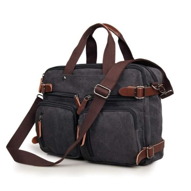 Сумка-рюкзак мужская Кошелькофф 9030BK черная