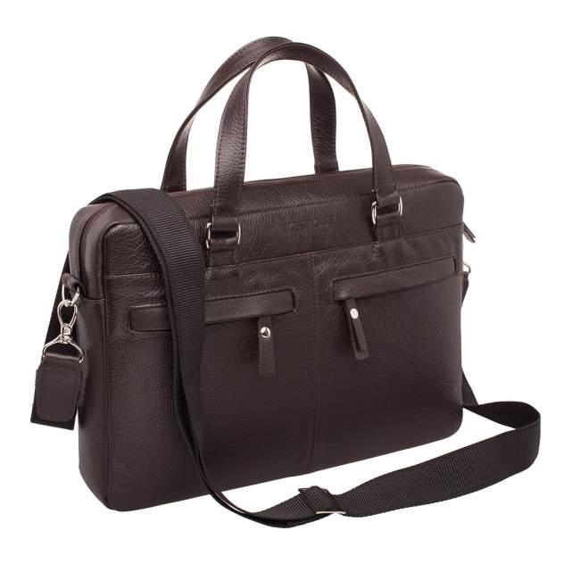 Портфель мужской кожаный Lakestone 9210 коричневый