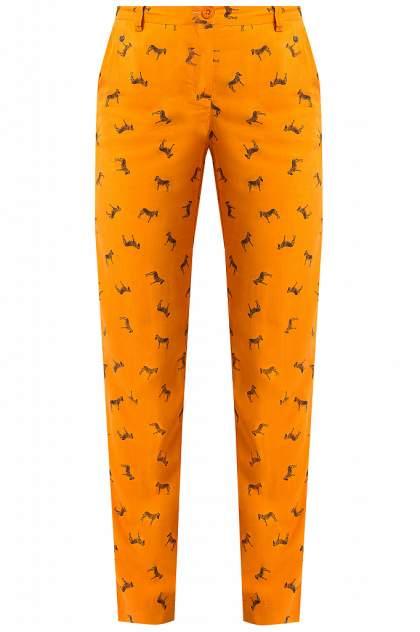 Брюки женские Finn Flare S18-12053 оранжевые S