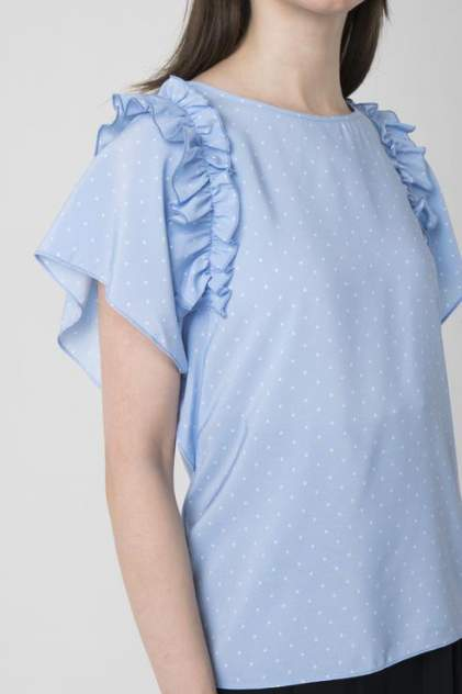Блуза женская ZARINA 8224100330041 голубая 42 RU