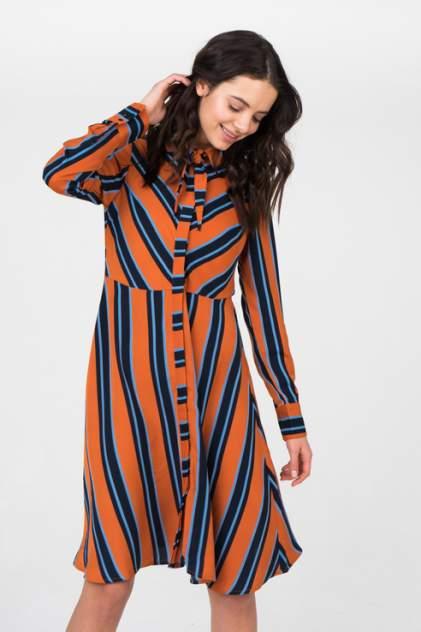 Платье-рубашка женское Y.A.S 26014518 разноцветное L